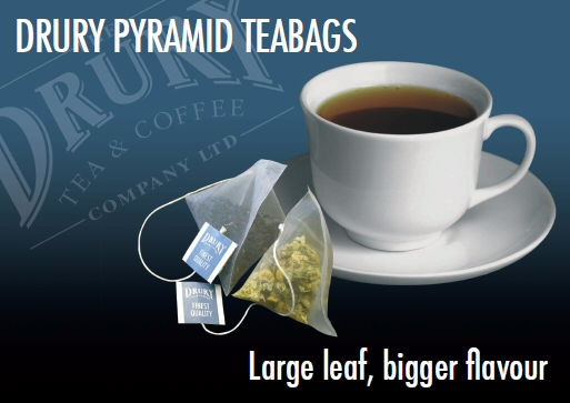 Drury Pyramid Teabags Poster