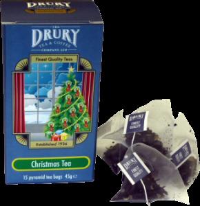 Drury Pyramid Christmas Tea Bag