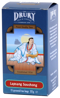 Drury pyramid Lapsang Souchong tea bag