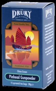 Drury Pinhead Gunpowder Pyramid Tea Bags
