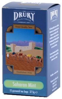 Drury pyramid saharan mint tea bags