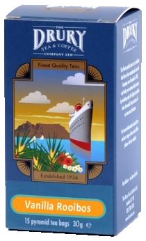 Drury pyramid vanilla rooibos infusion tea bags