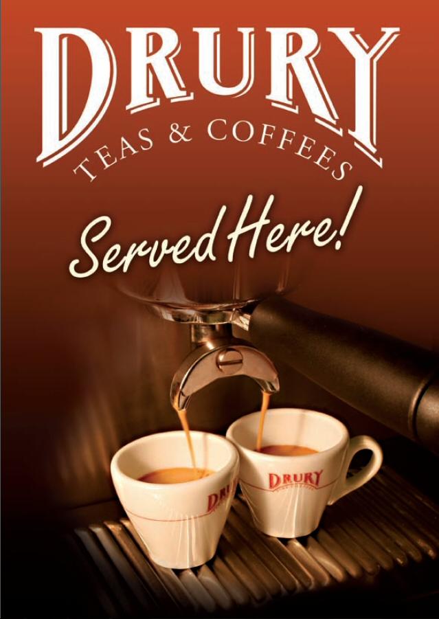 Drury Espresso Window Sticker