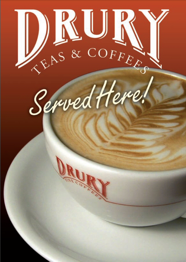 Drury Latte Window Sticker
