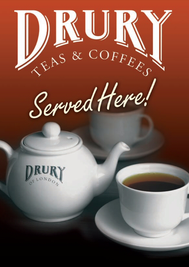 Drury Teas Window Sticker
