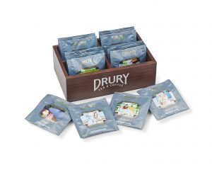 Four Compartment Wooden Storage for Drury Enveloped Pyramid Tea Bags
