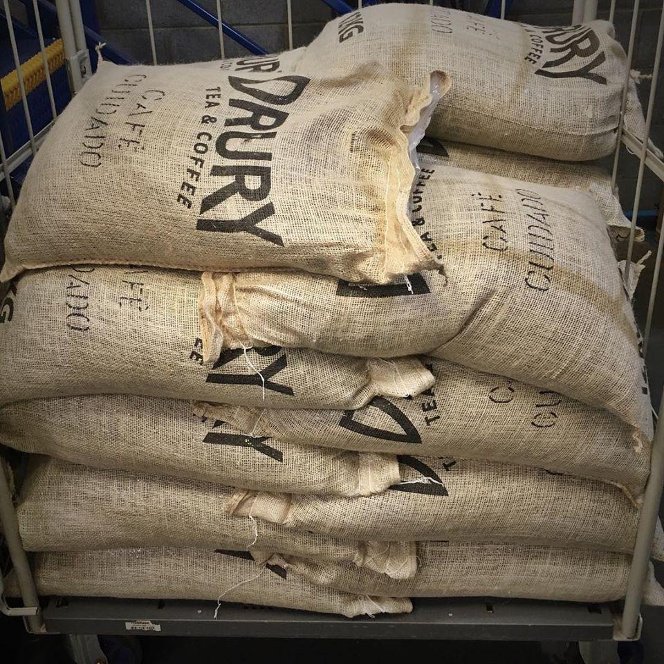 Our 12kg Hessian Coffee Sacks Drury Tea Amp Coffee