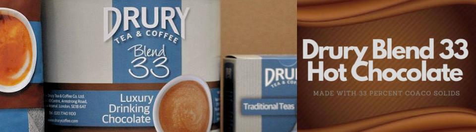 Drury Blend 33 Drinking Chocolate Banner